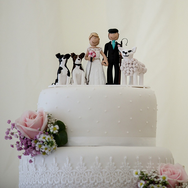 Personalised wedding cake toppers cake figures totallytoppers sheep cake topper 2 junglespirit Choice Image