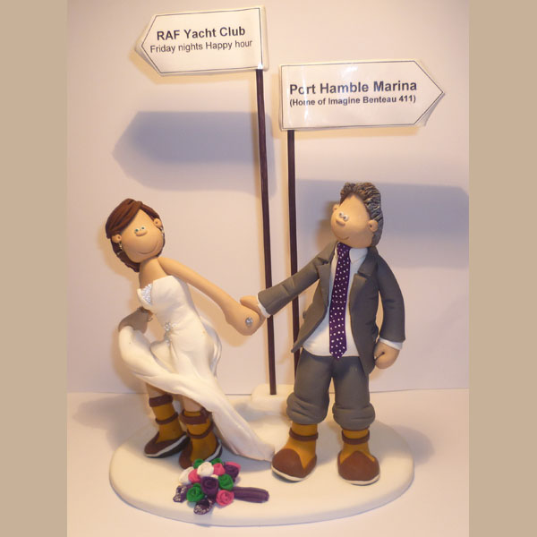 Laptop Wedding Cake Topper