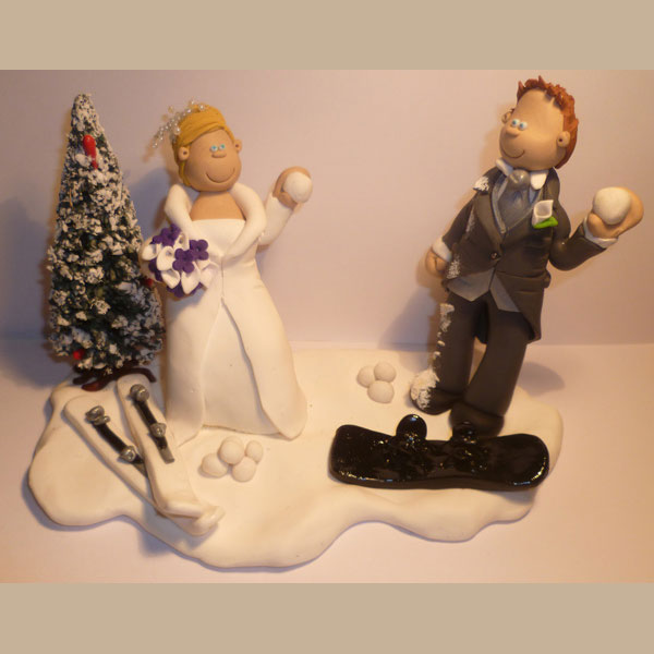 skiers wedding cake toppers themed wedding cake toppers totally toppers 20178