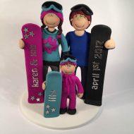 snowboarding-family-cake-topper