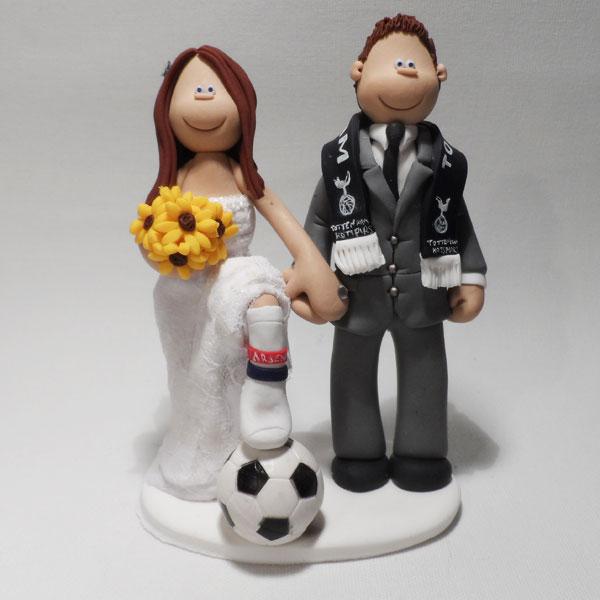 Spurs Arsenal Cake Topper