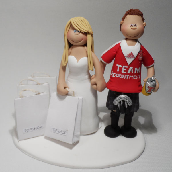 Sport Wedding Cake Toppers