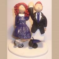 traditional irish dancing wedding cake topper. Black Bedroom Furniture Sets. Home Design Ideas
