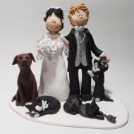 wedding cake toppers with dog and cat family amp pet cake toppers totally toppers 26630
